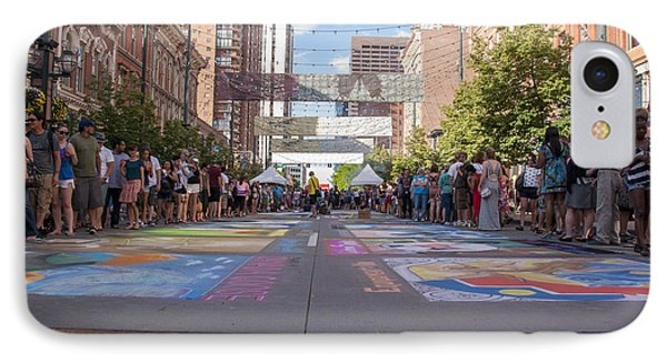 Denver Chalk Art Festival At Larimer Square 2014 IPhone Case