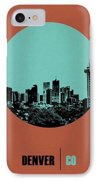 Denver Circle Poster 1 IPhone Case by Naxart Studio