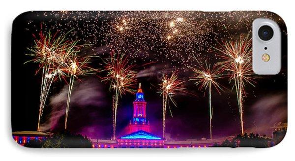 Denver Colorado Independence Eve Fireworks Phone Case by Teri Virbickis