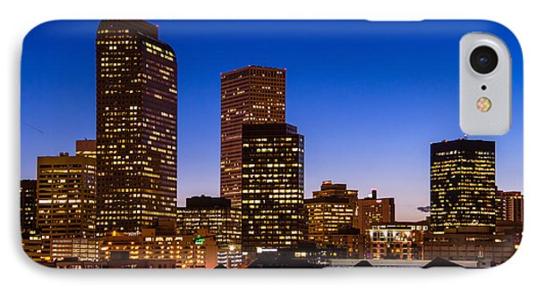 Denver Colorado Skyline At Blue Hour Mar 2013 IPhone Case