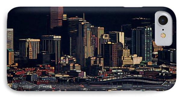 Denver Digital Art IPhone Case by Ernie Echols