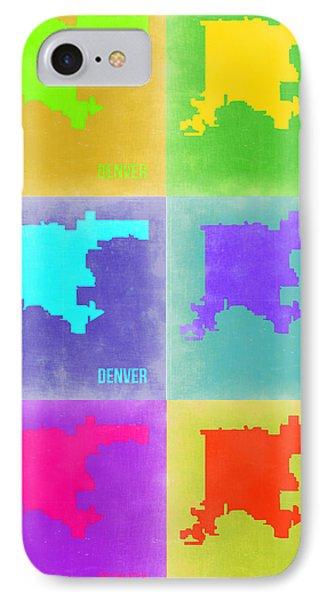 Denver Pop Art Map 3 Phone Case by Naxart Studio