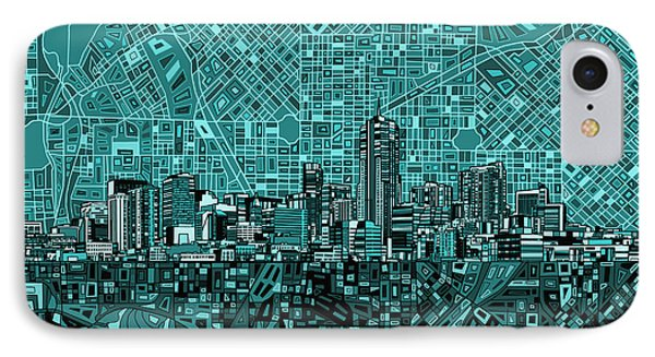 Denver Skyline Abstract 5 IPhone Case