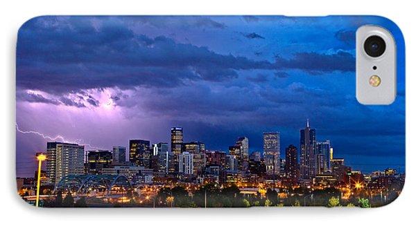 City Scenes iPhone 7 Case - Denver Skyline by John K Sampson