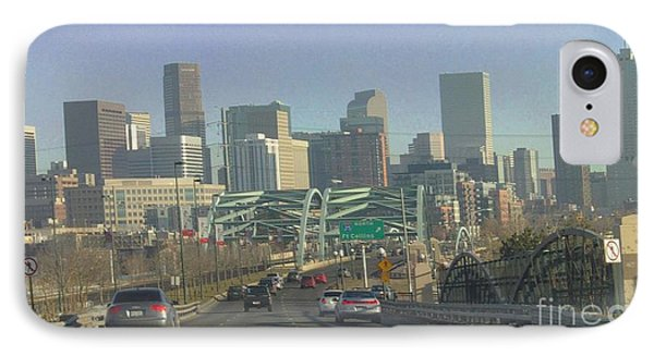 Denver Skyline View East From Speer 12 10 2011 IPhone Case by Feile Case