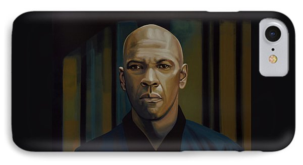 Denzel Washington In The Equalizer Painting IPhone Case by Paul Meijering