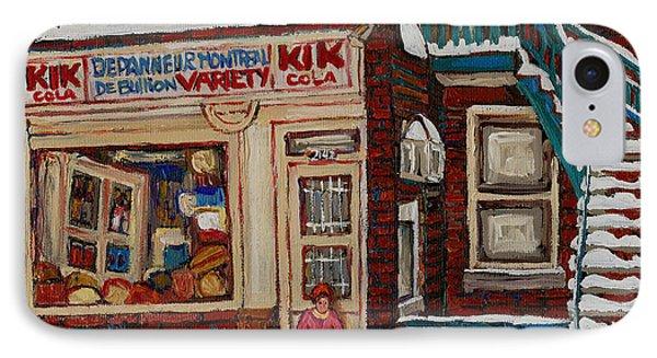 Depanneur Kik Cola Montreal Phone Case by Carole Spandau