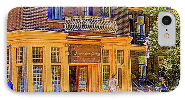 Depanneur Laurier Pain Chaud Fruits Et Legumes Charcuterie Biere Et Vin Montreal Street Scene  Phone Case by Carole Spandau