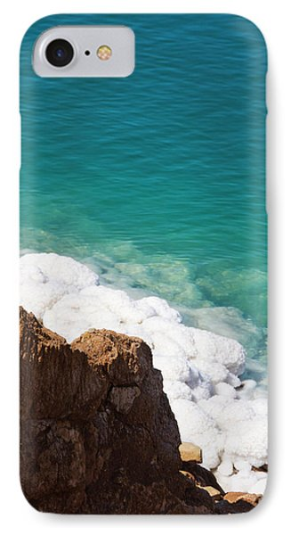 Deposit Of Salt And Gypsum By The Cliff IPhone Case