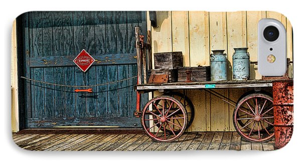 IPhone Case featuring the photograph Depot Wagon by Kenny Francis