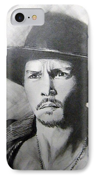 IPhone Case featuring the drawing Depp by Lori Ippolito
