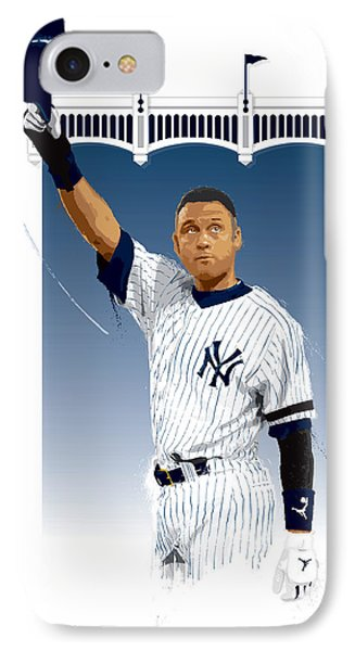 Derek Jeter 3000 Hits IPhone Case by Scott Weigner