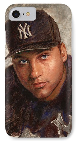 Derek Jeter Phone Case by Viola El