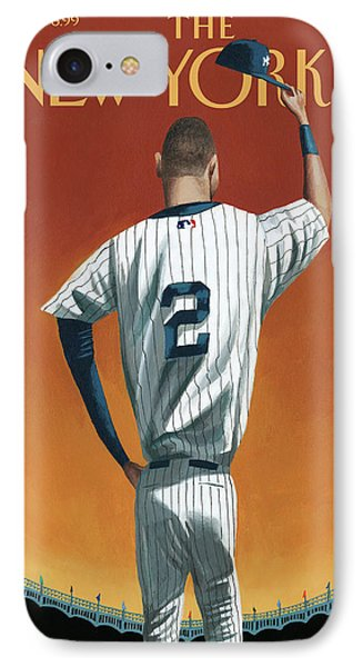 Derek Jeter Bows IPhone Case by Mark Ulrikse