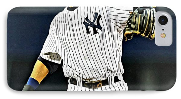 Derek Jeter IPhone Case by Florian Rodarte