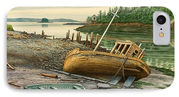 Derelict Boat IPhone Case by Paul Krapf