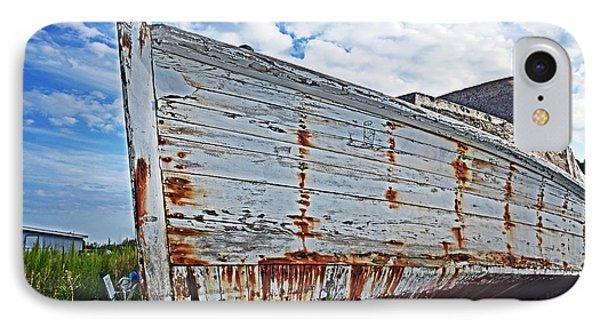 Derelict Workboat In Greenbackville IPhone Case by Bill Swartwout