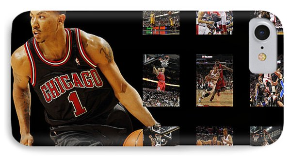 Derrick Rose IPhone Case by Joe Hamilton