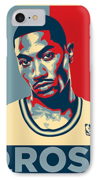 Derrick Rose IPhone Case by Taylan Apukovska