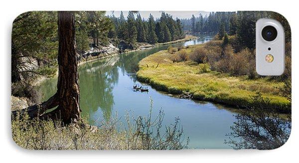 Deschutes River In Autumn IPhone Case by Bonnie Bruno