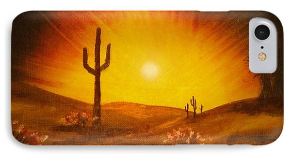 Desert Aglow IPhone Case by Becky Lupe