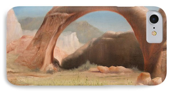 IPhone Case featuring the painting Desert Arch by Donelli  DiMaria