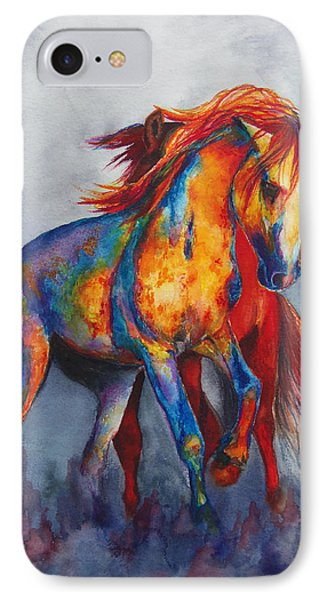 IPhone Case featuring the painting Desert Dance by Karen Kennedy Chatham
