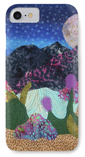 IPhone Case featuring the tapestry - textile Desert Dreaming by Ellen Levinson