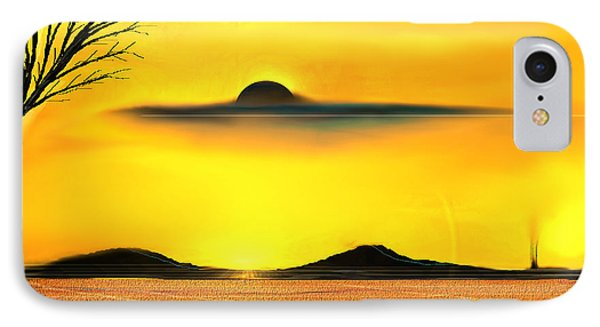 IPhone Case featuring the painting Desert Eclipse by Yul Olaivar