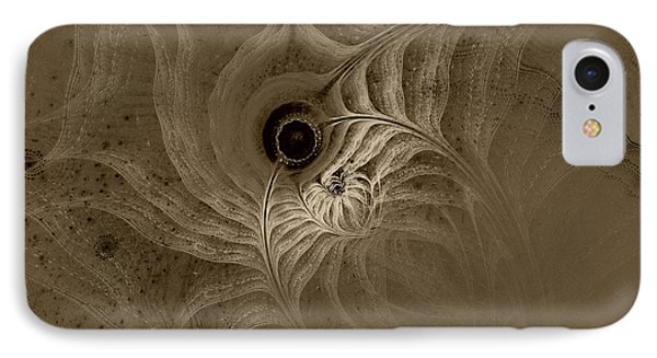 Desert Etching IPhone Case by GJ Blackman