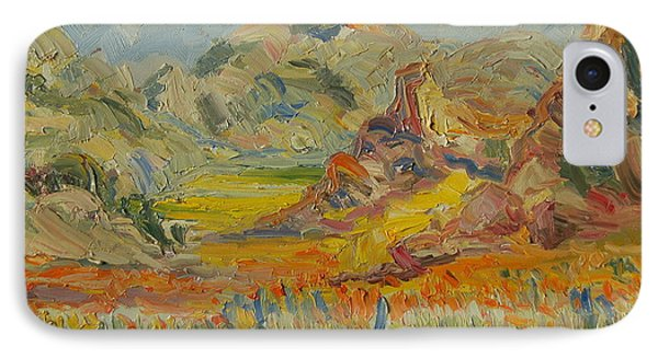 IPhone Case featuring the painting Desert Flowers by Thomas Bertram POOLE