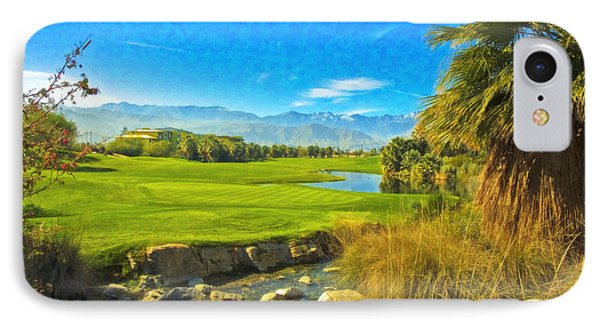 Desert Golf Resort Pastel Photograph IPhone Case by David Zanzinger