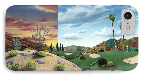 Desert Golf Phone Case by Snake Jagger
