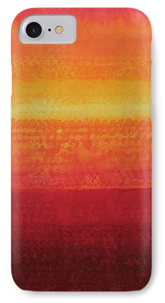 Desert Horizon Original Painting IPhone Case by Sol Luckman