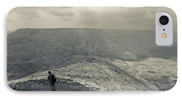 Desert Landscape With Visitor, Wadi IPhone Case