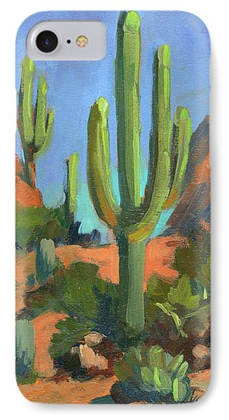 Desert Morning Saguaro IPhone Case by Diane McClary