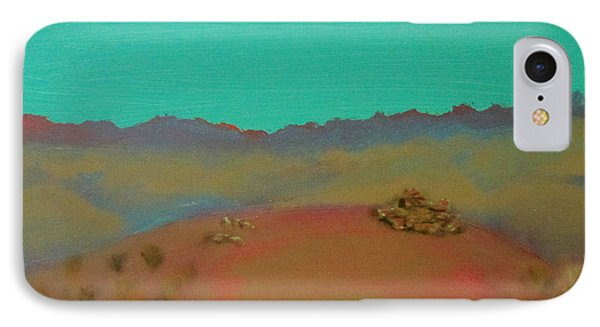 IPhone Case featuring the painting Desert Overlook by Keith Thue