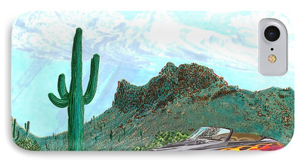 Desert Roadster 34 Ford IPhone Case by Jack Pumphrey