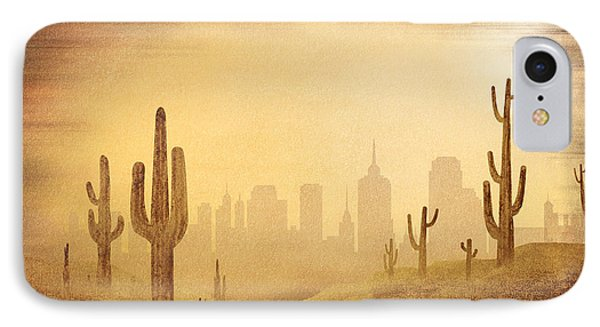 Desert Skyline IPhone Case by Bedros Awak