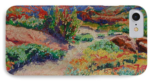 IPhone Case featuring the painting Desert Spring Flowers Namaqualand by Thomas Bertram POOLE