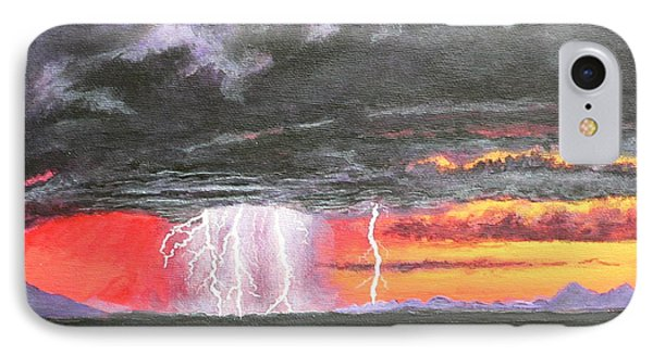 IPhone Case featuring the painting Desert Storm by Dan Wagner