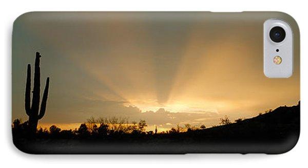 Desert Sun Beams, Near Phoenix IPhone Case by Panoramic Images