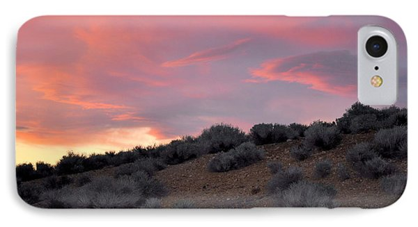IPhone Case featuring the photograph Desert Sunset by AJ  Schibig