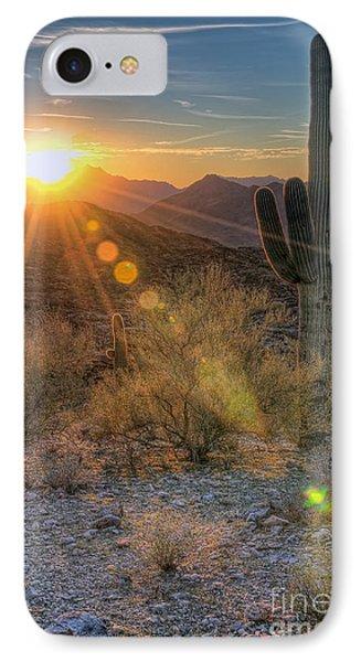 Desert Sunset iPhone 7 Case - Desert Sunset by Eddie Yerkish