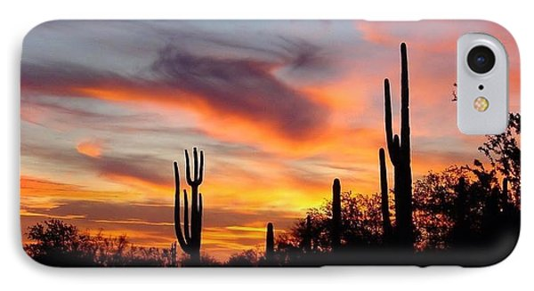 Desert Sunset IPhone Case by Joseph Baril