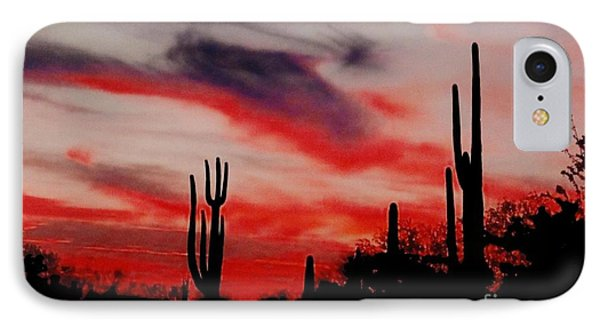 Desert Sunset Northern Lights Version 3 IPhone Case by Joseph Baril