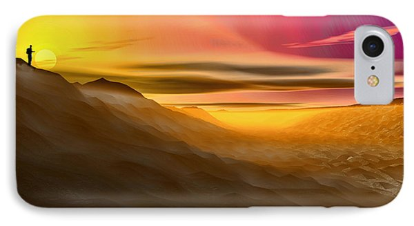 IPhone Case featuring the digital art Desert Sunset by Tyler Robbins