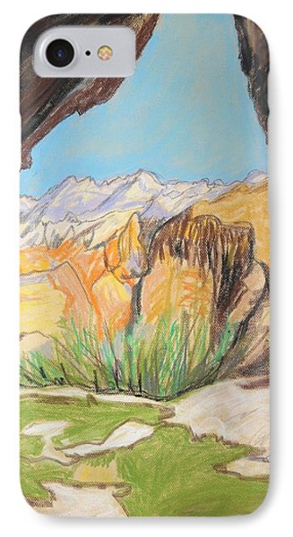 Desert View From The Cave Phone Case by Esther Newman-Cohen