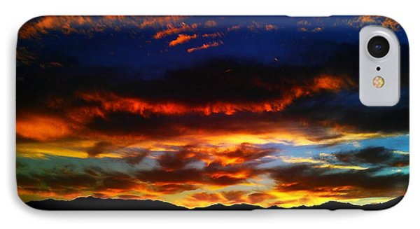 Desert Winter Sunset  IPhone Case by Chris Tarpening