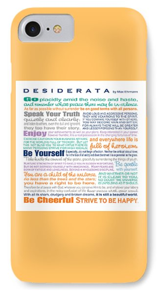 Desiderata - Multi-color - Square Format IPhone Case